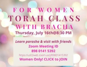 Women's Group with Bracha